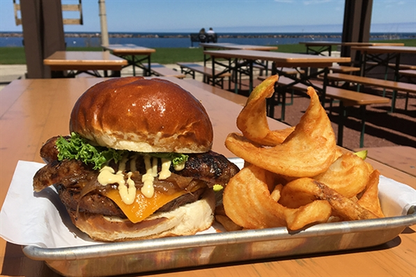 Fresh, local food at South Shore Terrace on Lake Michigan's Shore