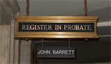Milwaukee County Register in Probate office entry sign
