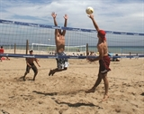 Beach Volleyball on Lake Michigan