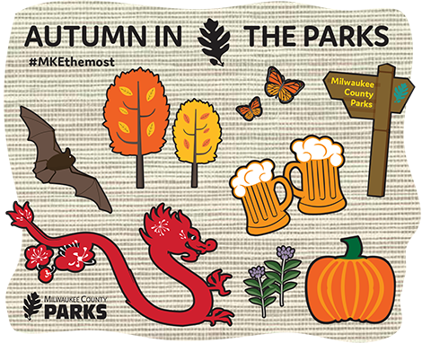 Autumn in the parks Icon Art