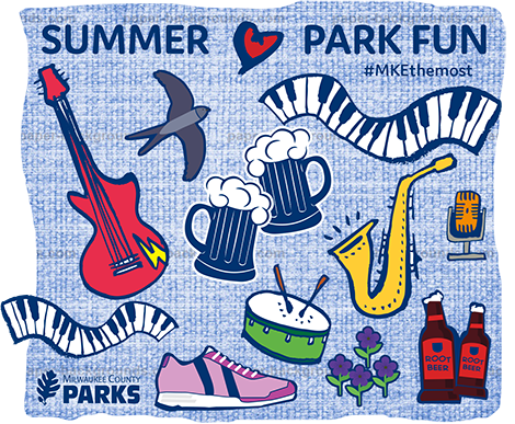 Summer Park Fun Art