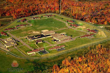 Overhead view of Lincoln Hills School for Boys, Copper Lake School for Girls
