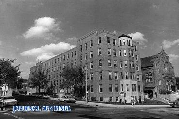 Photo of St. Anthony's Hospital taken in 1965