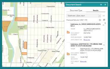 Open Cadastral Document Search Application