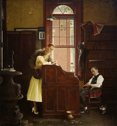 The Marriage License, a Norman Rockwell painting