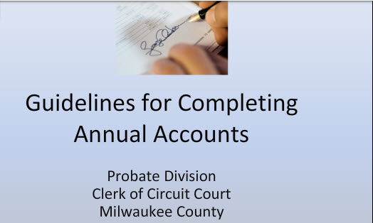 Guidelines to Completing Annual Accounts