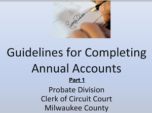 Guidelines to Completing Annual Accounts - PART 1